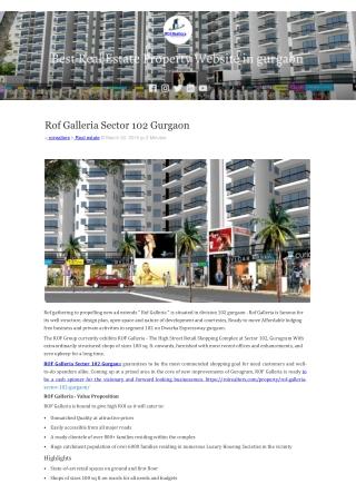 Rof Galleria 102 Gurgaon 9266055508