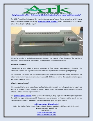 Why Lamination Plays An Important Role In Protecting Your Important Documents?