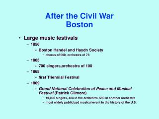 After the Civil War Boston