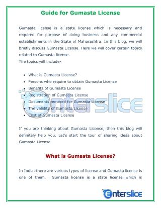 Guide for Gumasta License in Mumbai