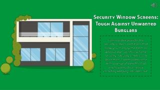 Commandex Security Window Screens