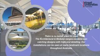 Unique Design of Architectural Umbrellas