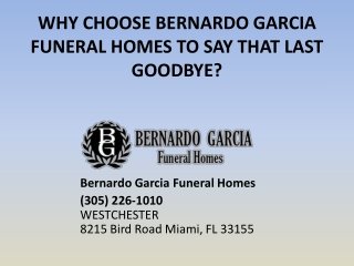 Funeral home Miami Offering Funeral Services