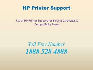 Reach HP Printer Support for Solving Cartridges & Compatibility Issues