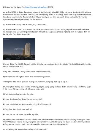 12 dấu ấn của ngôi sao trong The MARQ Hongkong Land SaleReal đang truyền thông