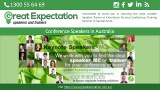 Conference Speakers in Australia
