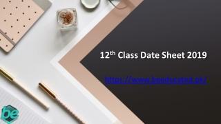 2nd year date sheet 2019