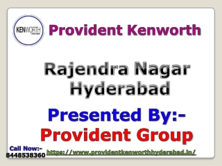 Buy luxury residential apartments in Provident Kenworth Hyderabad