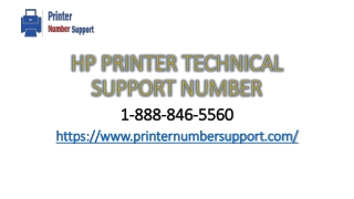 Hp Printer Technical Support Number