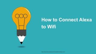 Connect Amazon Alexa to Wifi