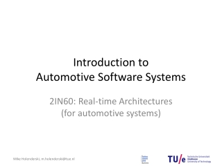 introduction to automotive systems