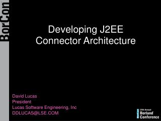 Developing J2EE Connector Architecture