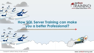How SQL Server Training can Make You a Better Professional?