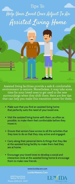 Tips To Help Your Loved Ones Adjust To An Assisted Living Home