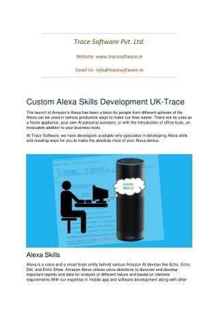 Custom Alexa Skills Development UK-Trace