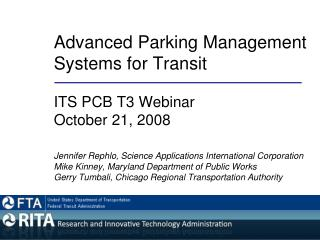Advanced Parking Management 	Systems for Transit