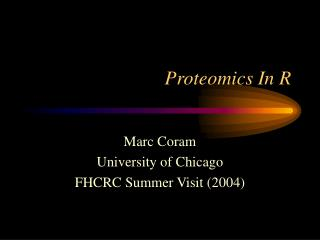 Proteomics In R
