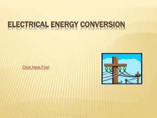 Electrical Energy Conversion