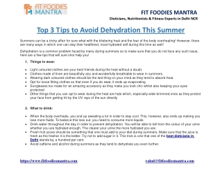 Top 3 Tips to Avoid Dehydration This Summer