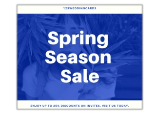 Spring collection sale 2019 at 123WeddingCards