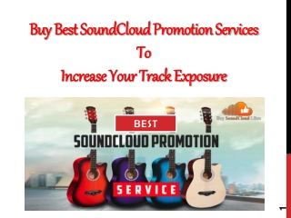 Buy Best SoundCloud Promotion Services to Increase Your Track Exposure