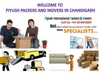 Best Packers Movers in CHANDIGARH |Piyush International Packers And Movers