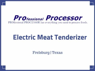 All models of electric meat tenderizer - Proprocessor