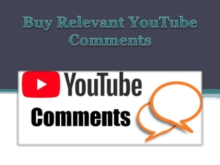 Buy Relevant YouTube Comments