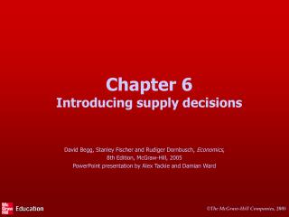 Chapter 6 Introducing supply decisions