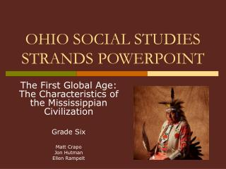 OHIO SOCIAL STUDIES STRANDS POWERPOINT