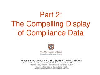 Part 2: The Compelling Display of Compliance Data