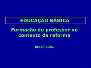 Formação do professor no contexto da reforma Brasil 2001