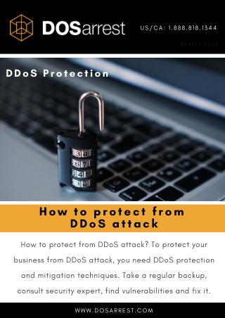 how to protect from DDoS attack