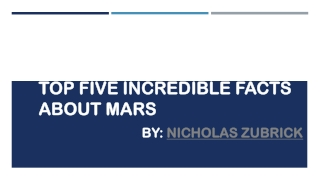 Nicholas Zubrick Incredible Facts about Mars