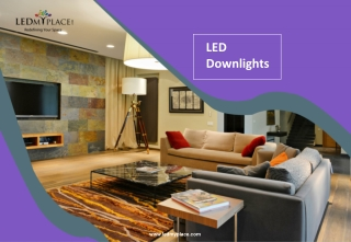 How LED Downlights Can Make Indoor Areas More Energetic?
