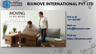BixMove Packers and Movers Chennai