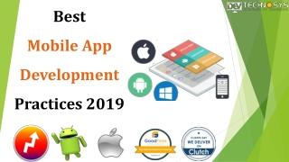 Best Mobile App Development Practices 2019