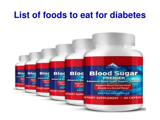The Easy Way to Control Diabetes