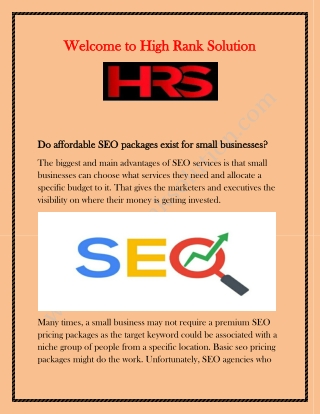 Social Media Packages for small Business