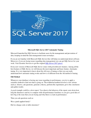 get the authenticate Microsoft SQL Server 2017 prices