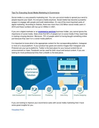 Web ecommerce services
