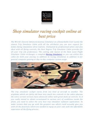 Racing Simulator | Shop Racing Simulator online