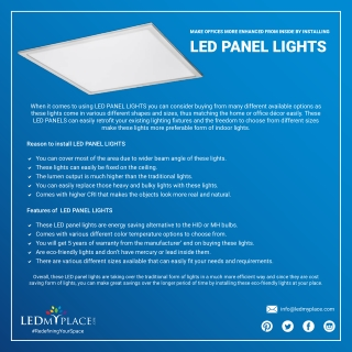 What Makes LED Panel Lights Best For Office Lighting?