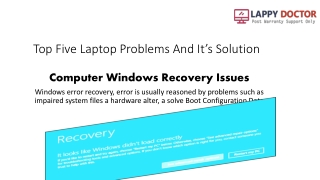 Top 5 Laptop Problems & Its Solution By Lappy Dr