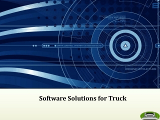 """""""Software Solutions for Truck """""""
