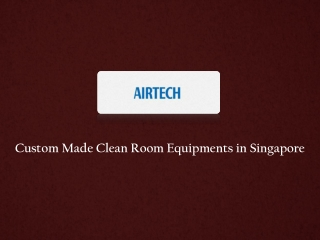 Cleanroom Equipments Manufacturer