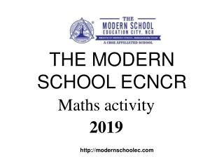 THE MODERN SCHOOL ECNCR Maths Activity-2019