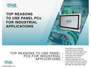 Top Reasons to Use Panel PCs for Industrial Applications