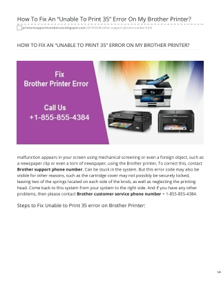Brother Printer Support 1-855-855-4384 Phone Number To Get Help