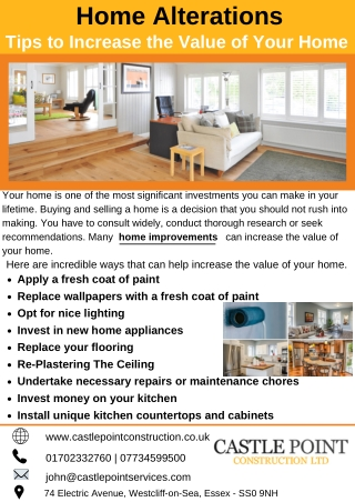 Home Alterations tips to Increase the Value of Your Home